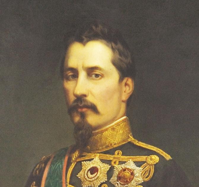 THE OFFICIAL PORTRAIT OF ALEXANDRU IOAN CUZA - 002_Portret_oficial_A.l.Cuza-detaliu.MNIR-George_Nica